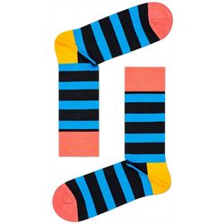 Happy Socks Mens Stripe Print Crew Socks