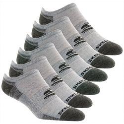 Skechers Mens 6-pk. Colorblock No Show Socks