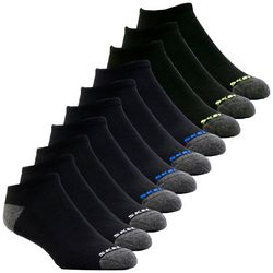 Skechers Mens 10-pk. Colorblock No Show Socks
