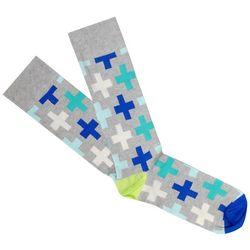 Fun Socks Mens Cross Crew Socks