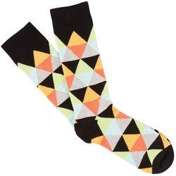 Fun Socks Mens Diamond Print Crew Socks
