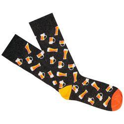 Fun Socks Mens Beer Print Crew Socks