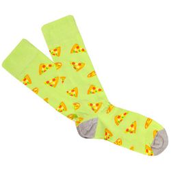 Fun Socks Mens Pizza Print Crew Socks