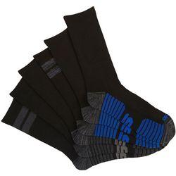 Skechers Mens 6-pk. Sport Stripe Crew Socks