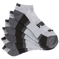 Puma Mens 6-pk. Heather Blocked Low Cut Socks