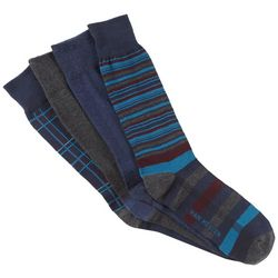 Van Heusen Mens 4-pk. Plaid Stripe Crew Dress Socks