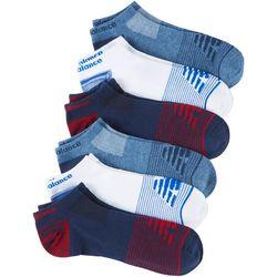 New Balance Mens 6-pk. Essentials Stripe No Show Socks