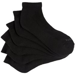 Nautica Mens 6-pk. Solid Athletic Quarter Socks