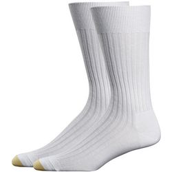 Gold Toe Mens 2-pk. Cotton Ribbed Crew Socks