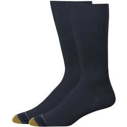 Gold Toe Mens 2-pk. Nylon Comfort Crew Socks