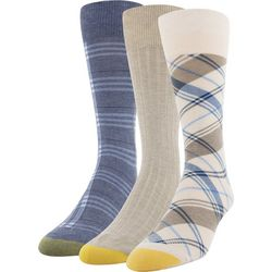 Gold Toe Mens 3-pk. Plaid Ribbed Socks