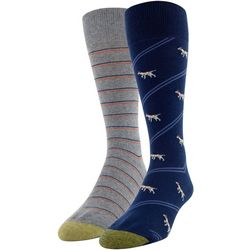 Gold Toe Mens 2-pk. Pointer Crew Socks