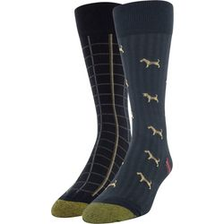 Gold Toe Mens 2-pk. Herring Terrier Pointer Crew Socks