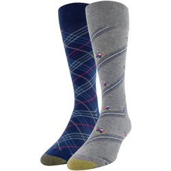 Gold Toe Mens 2-pk. Downhill Ski & Plaid Crew Socks