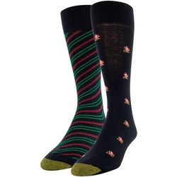 Gold Toe Mens 2-pk. Santa's Sleigh Crew Socks