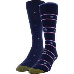 Gold Toe Mens 2-pk. Stars & Stripe Crew Socks