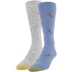 Gold Toe Mens 2-pk. Mermaid & Dots Crew Socks