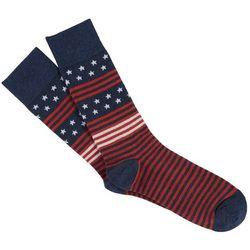 Davco Mens Stars & Stripes Crew Socks