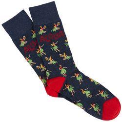Davco Mens Aloha Crew Socks