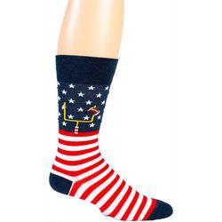 Davco Mens American Touchdown Crew Socks