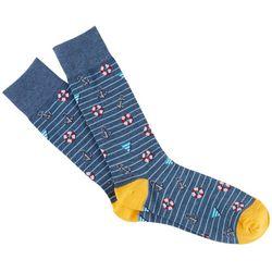 Davco Mens Nautical Crew Socks