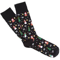 Soxland Mens Holiday Cheers Crew Socks