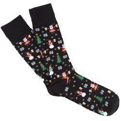 Soxland Mens Holiday Cheers Crew Socks