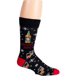 Soxland Mens Christmas Spirit Crew Socks