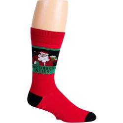 Soxland Mens Give Santa A Beer Crew Socks