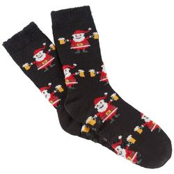 Soxland Mens Santa Beer Slipper Socks