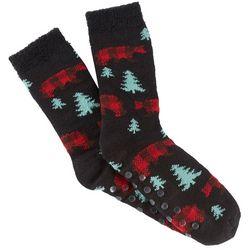 Soxland Mens Bears & Trees Slipper Socks
