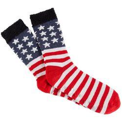 Soxland Mens Stars & Stripes Slipper Socks