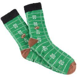 Soxland Mens Football Yard Lines Slipper Socks
