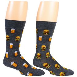 Davco Mens Burger & Beer Crew Socks