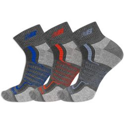 New Balance Mens 3-pk. Multi Striped Ankle Socks