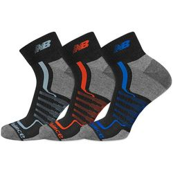 New Balance Mens 3-pk. Multi Stripe Ankle Socks