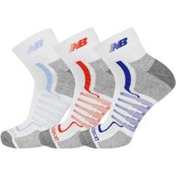 New Balance Mens 3-pk. Multi Stripes Ankle Socks