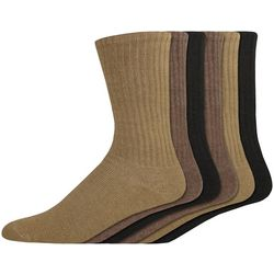 Dockers Mens 6-pk. Neutral Sport Crew Socks