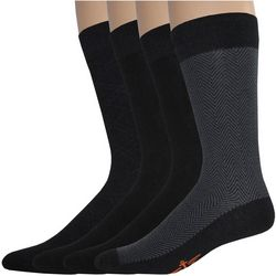Dockers Mens 4-pk. Herringbone Crew Socks