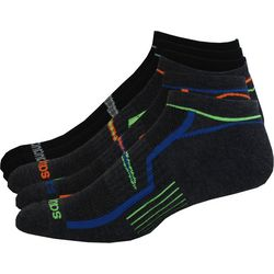 Saucony Mens 6-pk. Grey No-Show Performance Socks