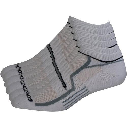 03de749e Saucony Mens 6-pk. White No-Show Performance Socks