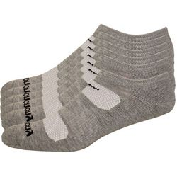 Saucony Mens 6-pk. Comfort Fit No-Show Grey Socks