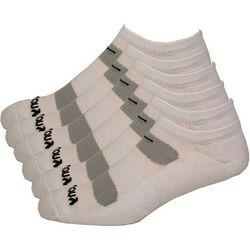 Saucony Mens 6-pk. Comfort Fit No-Show White Socks