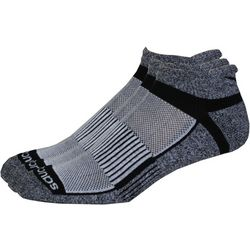Saucony Mens 3-pk. Inferno Grey Running Socks
