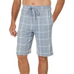 Ande Mens Whisper Luxe Winowpane Print Pajama Shorts