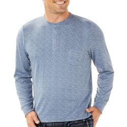 Ande Mens Solid Henley Pajama Shirt