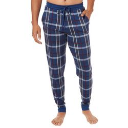 Ande Mens Madras Plaid Jogger Pajama Pants