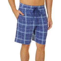 Ande Mens Plaid Print Pajama Shorts