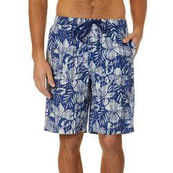 Tommy Bahama Mens Hibiscus Plaid Bermuda Sleep Shorts