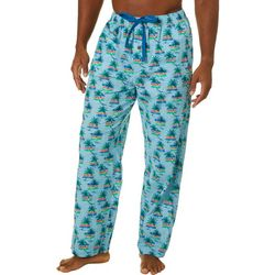 Tommy Bahama Mens Palm Tree & Stripe Sleep Pants